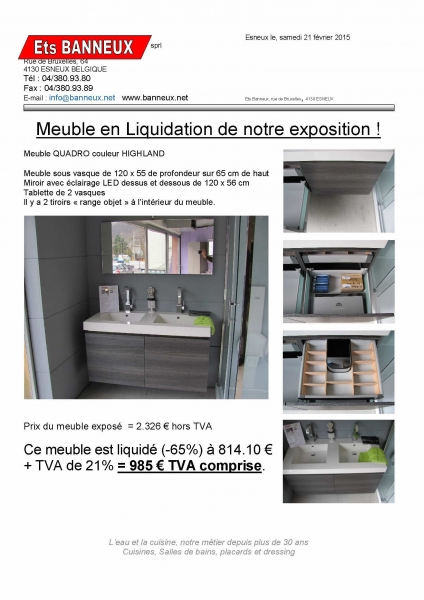 meuble salle de bain liquidation. Black Bedroom Furniture Sets. Home Design Ideas