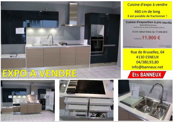 cuisine d 39 expo a vendre en belgique. Black Bedroom Furniture Sets. Home Design Ideas